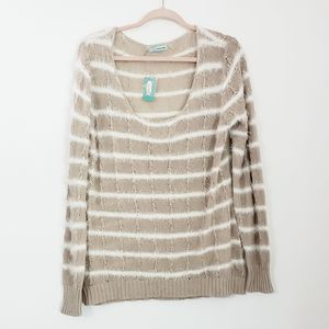 Maurices Scoop Neck Striped Sweater XXL NWT